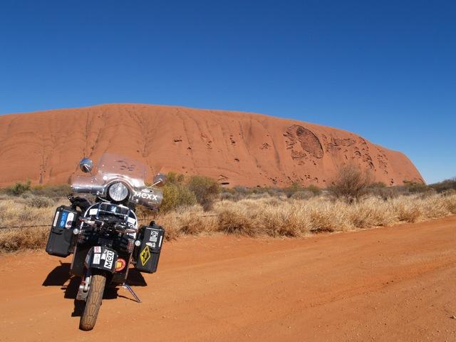 Vespa at Uluru