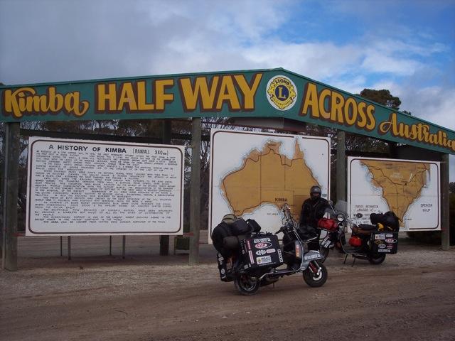 Halfway across Australia