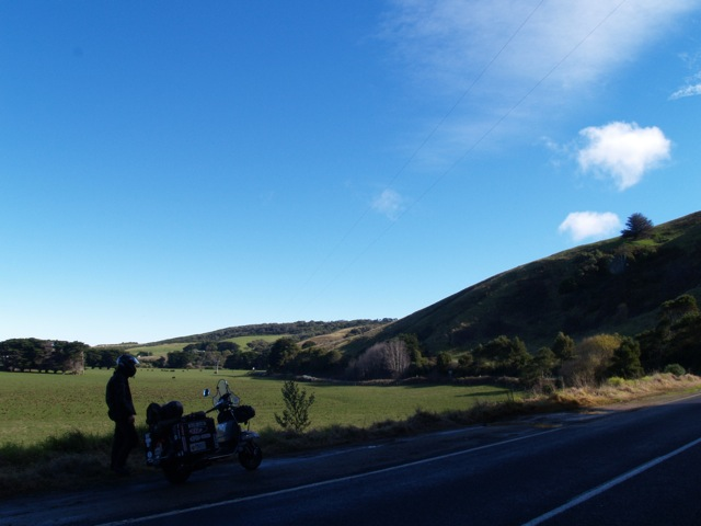 Vespas riding Great Ocean Road