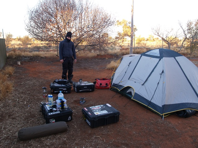 Camping at Erldunda
